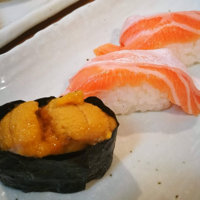 Sushi - Salmon + Sea Urchin