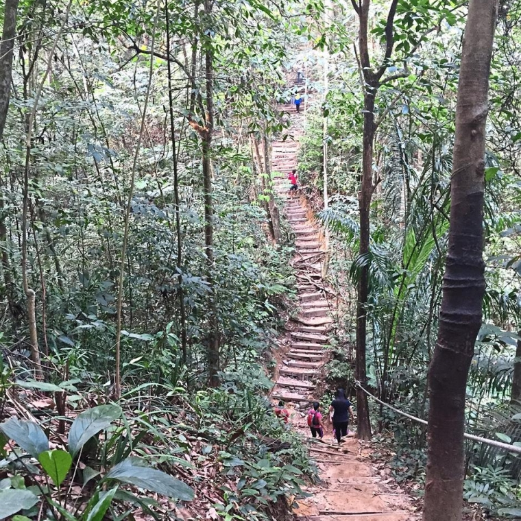 One of the routes at gasing hill